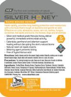 Silver Honey Spray bottle label
