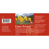 Arnica Gel Lotion label
