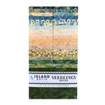 """Seedlings 2 1/2"""" strip rolls from Island Batik"""