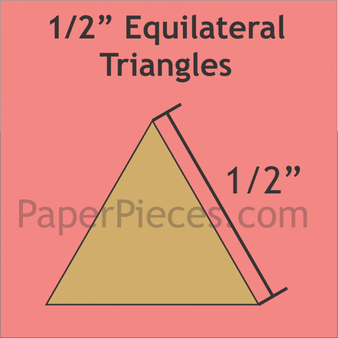 """Paper Pieces 1/2"""" equilateral triangle templates"""