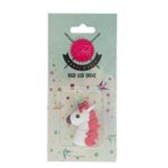 Tula Pink White Unicorn USB