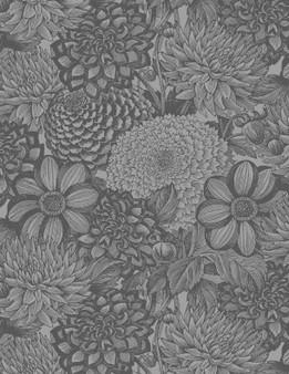 """108"""" Wide Back Grey Floral"""