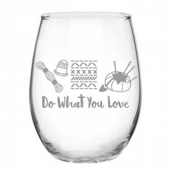 Stitch Happy Glass
