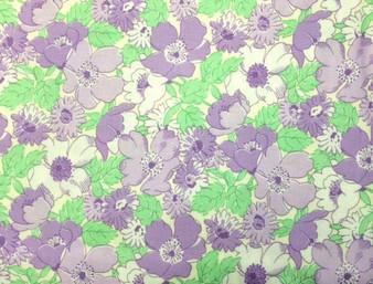 Walk in the Park Mint/Purple Floral