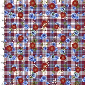 American Spirit 16069 Plaid Floral