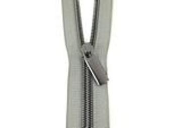 Zippers by the Yard Grey tape Gunmetal Teeth