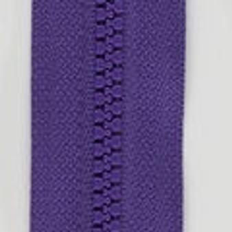 "Purple Separating Sport Zipper, 28"""