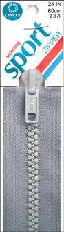 "Grey Separating Sport Zipper, 24"""