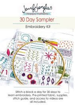 30 Day Sampler Embroidery Kit