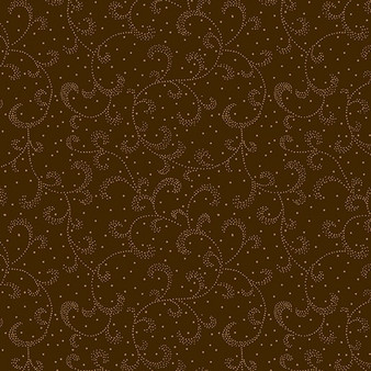 Swirling Scroll Chestnut Brown (Color Theory Basic) 09805-77