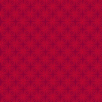 Geo Bloom Crimson (Color Theory Basic)