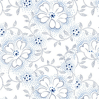 Danbury - Dotted Viney Floral - White