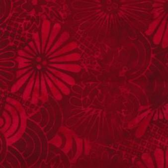 Redmond-518 Deep Red Floral Batik
