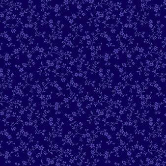 Flowery Vines Navy 09809-55
