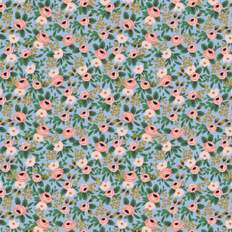 Garden Party - Rosa - Chambray Metallic Fabric RP305-CH4M