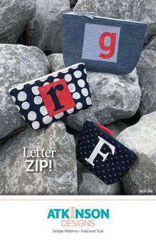 Letter z ip zipper bag pattern