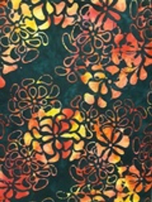 Batik Textiles Lingering Summer Floral