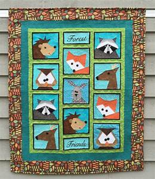 Forest Friends by Marney Foundation Paper Pieced