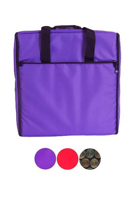 Bluefig Large Embroidery Arm Bag, Purple