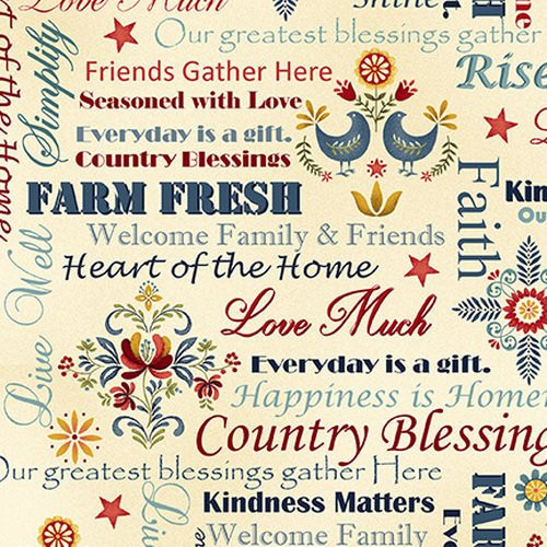 Count Your Blessings Cream Words 2352 33