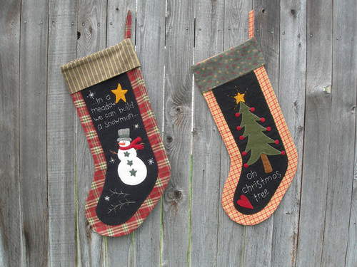 Tree and Snowman Stockings