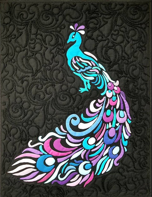 Funky Feathered Peacock by Valorie Funk
