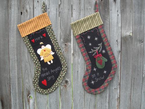 Angel and Mitten Stocking