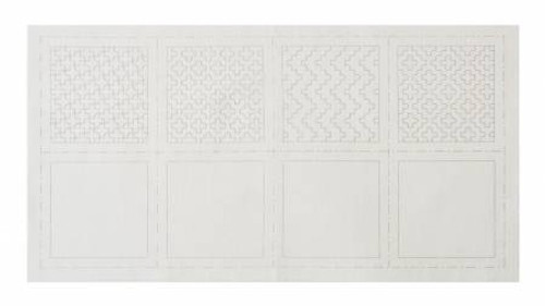 Cosmo Sashiko 100% Cotton Pre-printed Precut Cloth Set For Coasters - White 98903