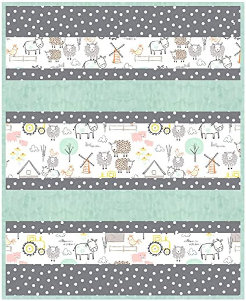 Shannon Fabrics Hay There Cuddle Quilt Kit