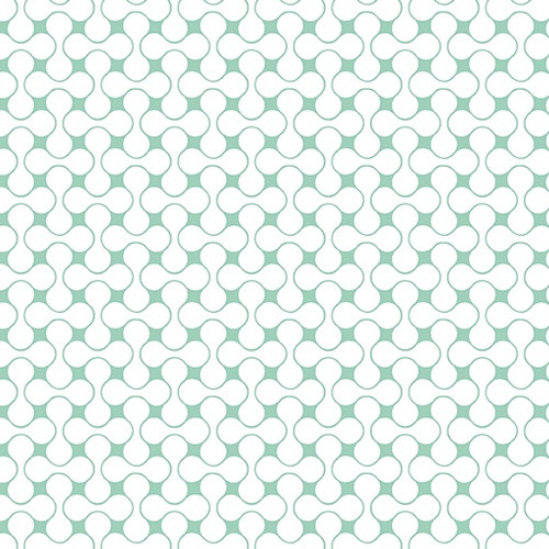Interconnected Teal/White 01638-86