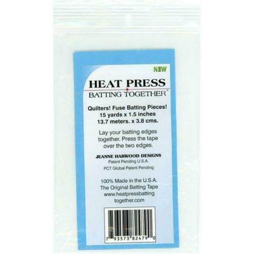 Heat Press Batting Fuse 15 yds x 1.5 inches
