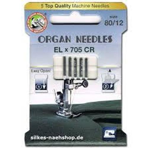 Organ Needles 80/12 ELx705 CR- Overlock/Cover