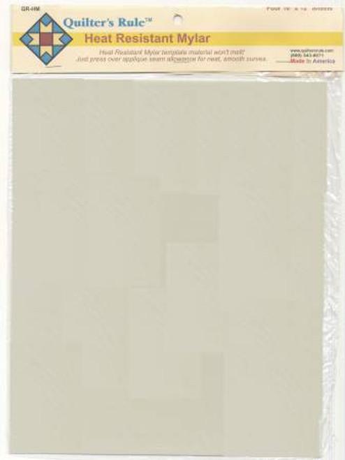Heat Resistant Mylar Template Sheet 10in x 12in 4ct