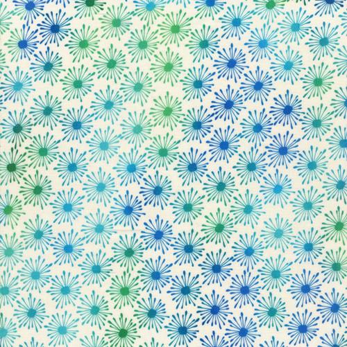 Unusual Garden 2 - Bursts Blue/White