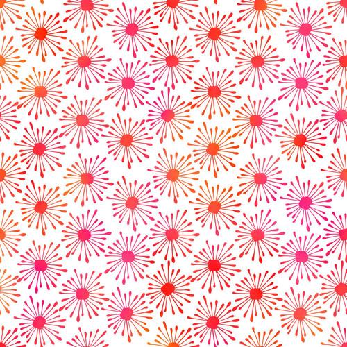 Unusual Garden 2-Bursts Pink/White