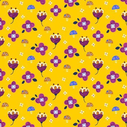 Fuwafuwa-san no Bokujo - Kinoko to Hana-chan - Yellow Fabric