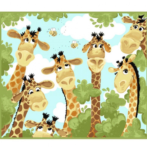 Zoe the Giraffe Susybee Panel