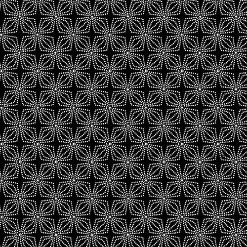 Geo Bloom Black (Color Theory Basic) 09806-12