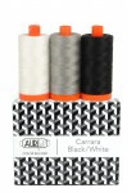 Aurifil Color Builders Carrara Black/White