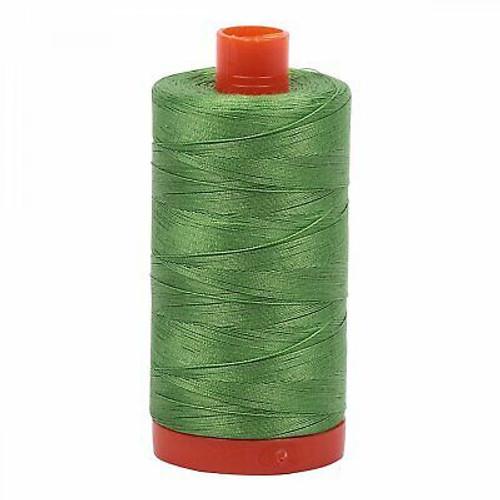 Aurifil Cotton Mako Thread 50wt 1300m 1114 Grass Green