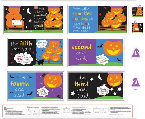 5 Little Pumpkin Book Panel 4673P-1