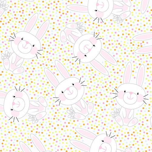 Bunny Hop White/Multi (Hippity Hoppity) 09759 98