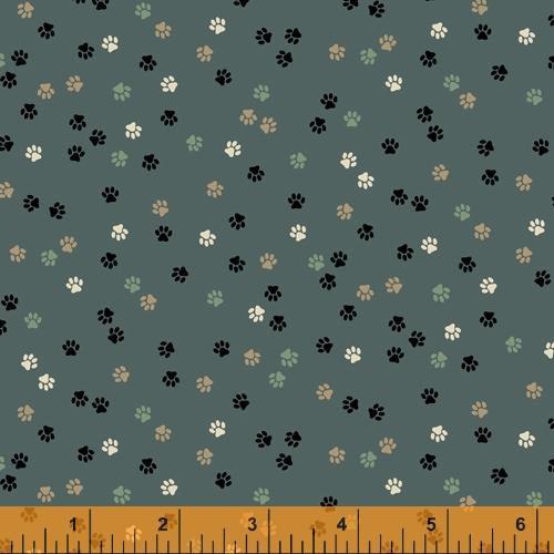 Fat Cat 52272-3 Teal Paw Prints