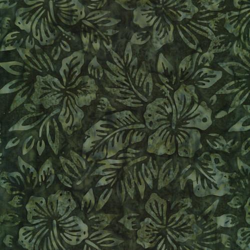 Bandon-325 Hunter Green Floral Batik