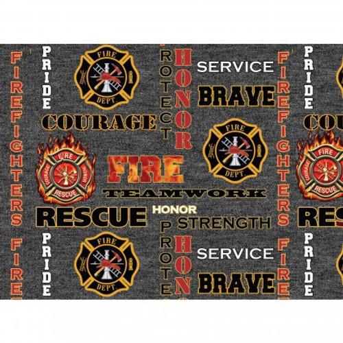 Firefighter Logo Heather Grey 1181-FF