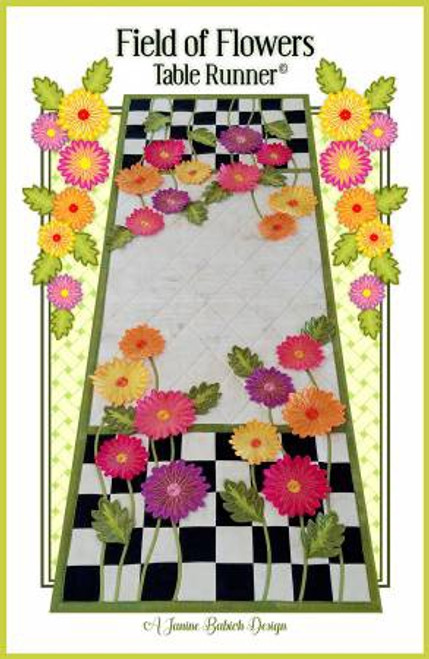 Field of Flowers Machine Embroidery Table Runner