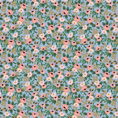 Garden Party - Rosa - Chambray Metallic Fabric RP305-CH4M