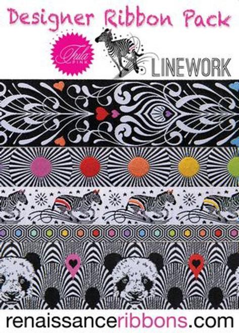 Tula Pink Ribbon Pack - Linework