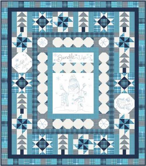 Bundle Up Snowman Flannel Quilt Kit