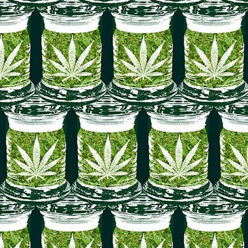 Cannabis Jars 1024-66 Green
